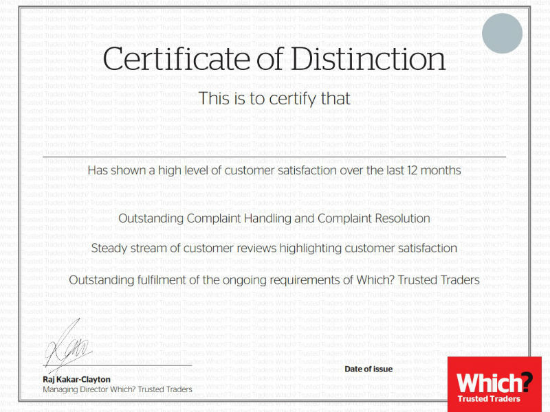The Certificate of Distinction