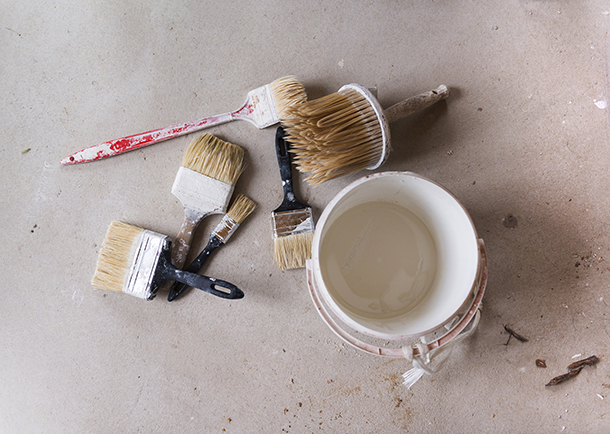 cleaning paint brushes and rollers and storing paint. Black Bedroom Furniture Sets. Home Design Ideas