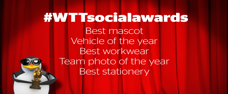 WTT social awards banner with categories listed