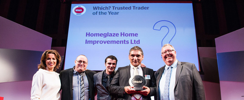 Homeglaze wining Which? Trader of the Year award at Which? Awards ceremony