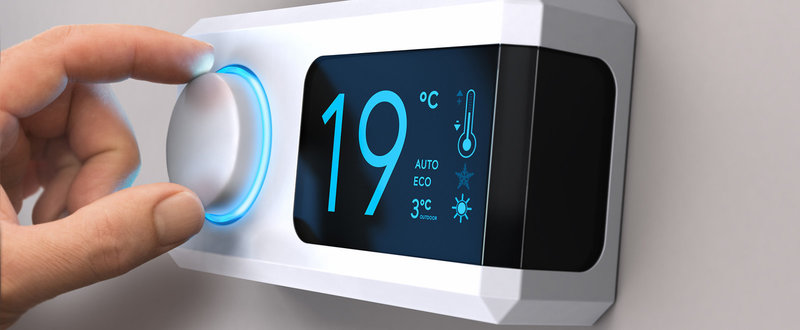 modulating room controller heating thermostat