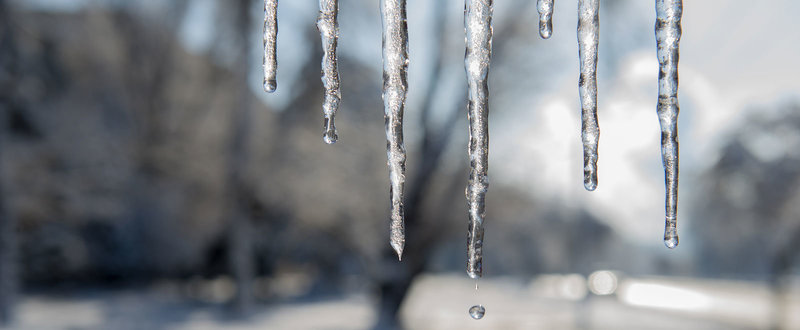 Icicles and freezing weather