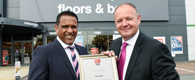 Raj Kakar-Clayton, MD of Which? Trusted Traders and Chris Daniel Retail Director at Carpetright