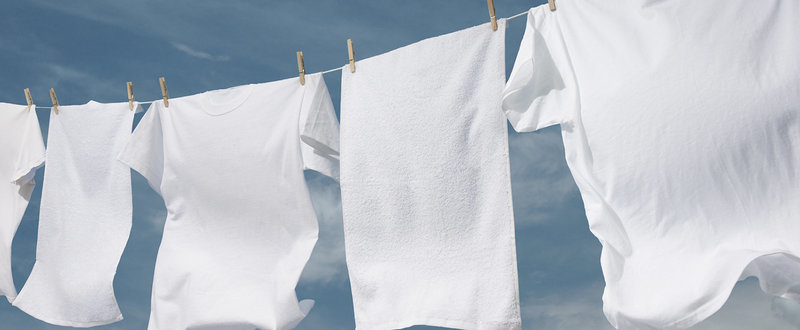 clean washing on the line