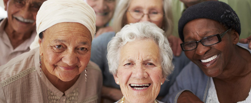 group of older people smiling