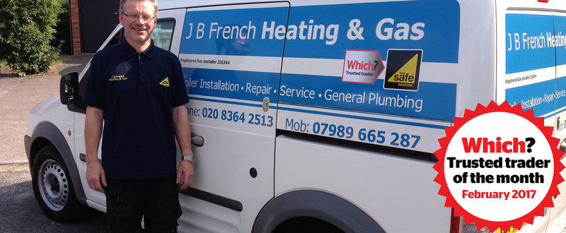 J B French Heating & Gas Which? Trusted Trader of the month February 2017
