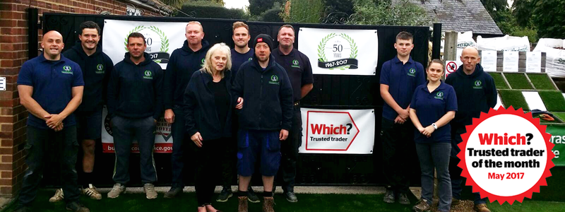 Southdown Landscapes and Turf with the Which? Trusted trader of the month logo