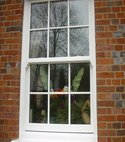 Square thumb georgian sliding sash window pvcu