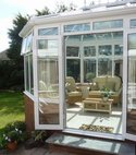 Square thumb mini aluminium conservatory installation in beaconsfield  buckinghamshire