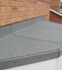 Square thumb felt roofing