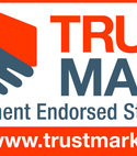 Square thumb trust mark
