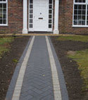 Square thumb block paving elstead