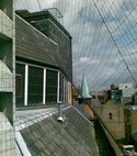 Square thumb roof netting