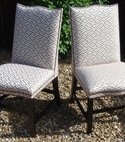 Square thumb a pair of high back dining chairs