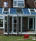 Square thumb double glazed aluminium windows doors conservatories 001