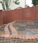 Square thumb natural slate patio