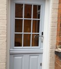 Square thumb duck egg blue stable door