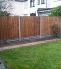 Square thumb timber panel fencing 1