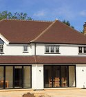 Square thumb bifold shire lane chorleywood full rear elevation