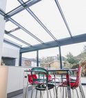 Square thumb contemporary aluminium conservatory glazed glass extension kingston surrey