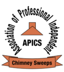 Square thumb apics chimney sweep logo