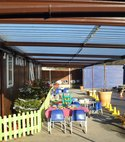 Square thumb school shelters canopies playground