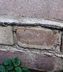 Square thumb physical damp proof course