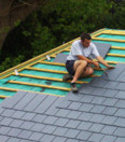 Square thumb roofing