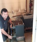 Square thumb job 2   dismantling old boilers