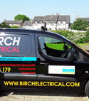 Square thumb birch electrical van
