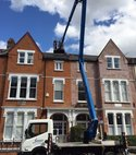 Square thumb vertical flue using cherry picker