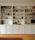 Square thumb alcove cupboard shelf unit