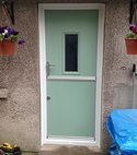 Square thumb composite stable door