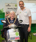 Square thumb mayor of rotherham supporting scooter safety event