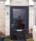 Square thumb grey upvc door