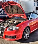 Square thumb audi cabriolet orange