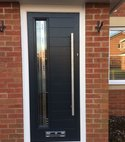 Square thumb anthracite grey monza composite door  matrix glass kenilworth universal windows uk ltd