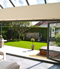 Square thumb aluminium bi folding doors