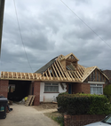 Square thumb loft conversion with dormer window