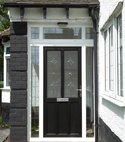 Square thumb black upvc door 1