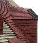 Square thumb tile roof