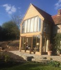 Square thumb oak doors and windows  extension zeals  2