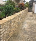 Square thumb stone retaining wall  weymouth