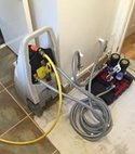 Square thumb powerflush