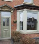 Square thumb sash windows and traditional front door in bewdley