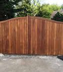 Square thumb hardwood iroko ashlar house