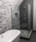 Square thumb modern bathroom