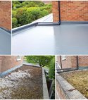 Square thumb grp roof