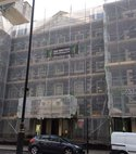 Square thumb pall mall access scaffold