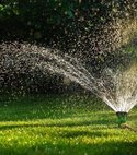 Square thumb sprinkler and watering